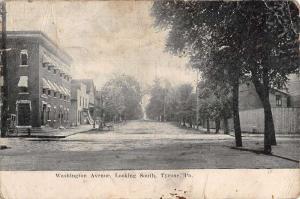 Tyrone Pennsylvania Washington Ave Street Scene Antique Postcard K65259