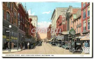 Usa Old Postcard Lexington street West from park avenue Baltimore MD