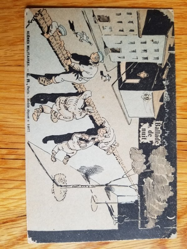 WW I Free Franked Military Post Card August 22nd 1918