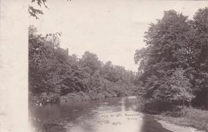 RP: View on Little Muskegon River, Michigan, 1904-18s; MORLEY Photo postcard