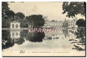 Old Postcard Foret De Fontainebleau View On I & # 39Etang The Carps