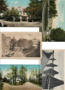 Netherlands Utrecht Bussum Nijmegen Postcard Lot of 9 With Dutch Mills 01.13