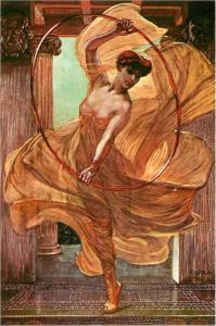 Dancer and Hoop by Frantisek Kupka Dance Art Postcard