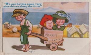 Morris Transport Antique Cart Old 1930s Seaside Comic Humour Postcard