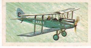 Trade Card Brooke Bond Tea History of Aviation black back reprint No 14 Moth