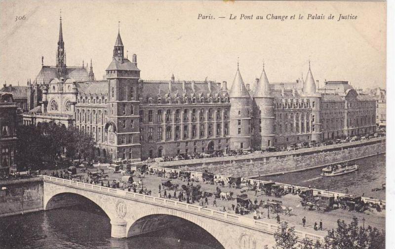 Le Pont au Change et le Palais de Justice, Paris, France, 00-10s