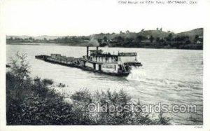 Coal Barge On The Ohio River, Middleport, Ohio Ferry Boats, Ship Unused