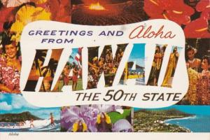 Hawaii Greetings and Aloha From The 50th State 1975