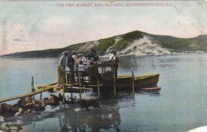Rhode Island Quonochontaug Fish Market & Old Hill 1908