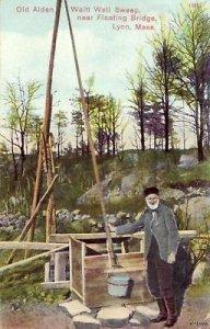 OLD ALDEN WAITT WELL SWEP FLOATING BRIDGE LYNN, MA 1910