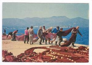 Fishermen haul nets AOHNA, Greece. 50-60s