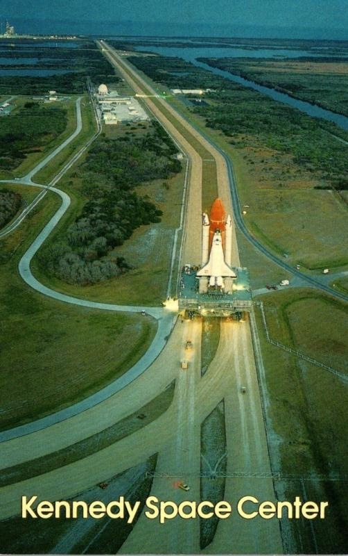 Florida John F Kennedy Space Center Space Shuttle Going To Launch Pad