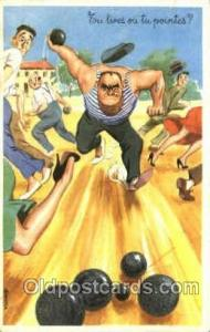 Lawn Bowling, Postcard Post Card Old Vintage Antique