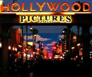 Postcard Disney California Adventure Hollywood Pictures Backlot Sign Entrance