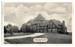 1946 Red Swan Inn, Warwick, NY Postcard