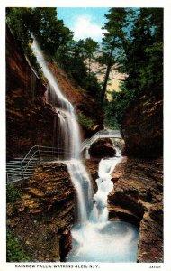 New York Watkins Glen Rainbow Falls Curteich