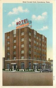 Dyersburg TN~Hotel Cordell Hull~1941 Postcard