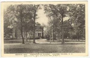 Memorial Hall, Administration Building, Guilford College, North Carolina, PU-...