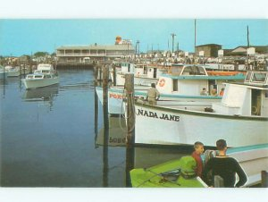Pre-1980 GULF GAS STATION SIGN AT MARINA Cape May by Wildwood Vineland NJ AF6247