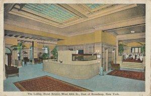 NEW YORK CITY , 1910s ; Lobby , Hotel Bristol