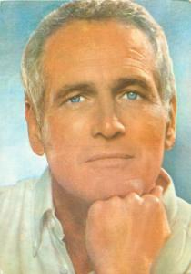 Actor Paul Newman blue eyes Postcard