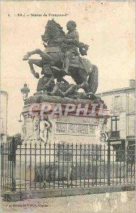 Postcard Old Cognac Francois Statue 1