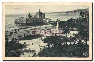 Old Postcard Nice Albert 1st Gardens and the Casino of Jetee