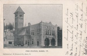 BARRE, Vermont, PU-1906; Fire Station