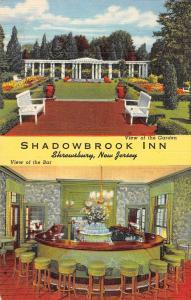 Shrewsbury New Jersey Shadowbrook Inn Multiview Antique Postcard K88508