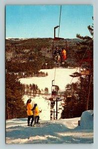East Madison NH- New Hampshire, King Pine Ski Lift Foss Mt, Chrome c1978Postcard