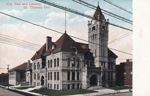 ST. THOMAS, Ontario, Canada, 00-10s; City Hall and Library