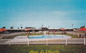 Swimming Pool, Motel Le d' Iberville, Iberville, Quebec,  Canada,  40-60s