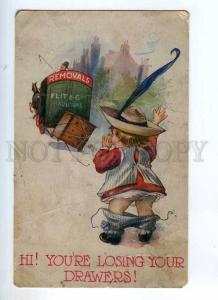 235044 ADVERTISING Removals FLIT & Co FURNITURE Vintage COMIC