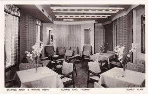 RP: Drawing Room, Cunard R. M. S. Ivernia, Tourist Class, 1920-1940