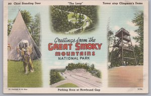 Greetings from the Great Smoky Mountains National Park-Newfound Gap, Tenn.-1958