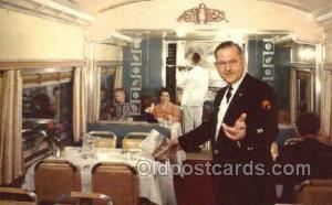 Vista Dome , USA Train, Trains, Locomotive, Old Vintage Antique Postcard Post...