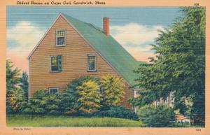 Oldest House on Cape Cod at Sandwich, Massachusetts - Linen