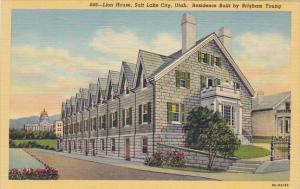 Utah Salt Lake City Lion House Brigham Young Residence Curteich