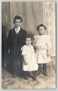 RPPC Ralph,7 is Up To No Good~Sarah,4 is Ready For Fight~Nellie,2 Is Irked 1914