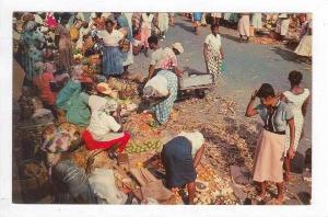 Market Scene In Jamaica, 1940-1960s