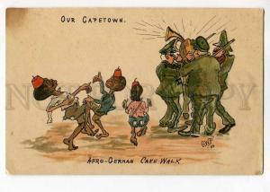 264861 Our CAPE TOWN Black Boy CAKE WALK by G.W.P. Vintage PC