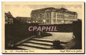 Old Postcard Deauville Beach Royal Hotel Fleurie seen Gardens