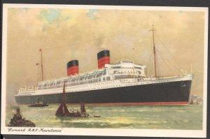 Cunard - R.M.S. Mauretania - Post Card - Unused