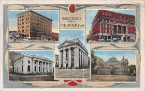 Greetings from Pittsfield, Massachusetts, Early Postcard, Used in 1919