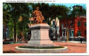 Maine Portland Longfellow Square Longfellow Monument