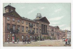 Germany Karlsruhe Rathaus Town Hall Vintage Schaar u Dathe c 1910 Postcard