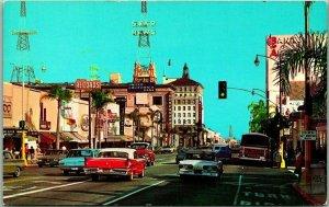 Pasadena, California Postcard East on Colorado Street Curteich Chrome c1960s