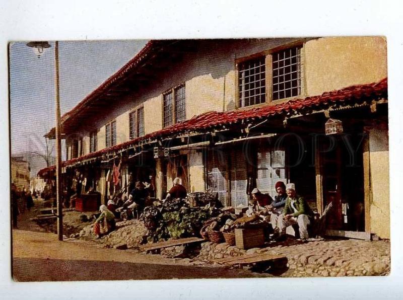 206413 ALBANIA market Vintage Rommler & Jonas postcard