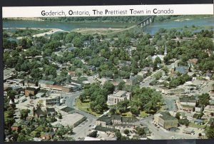 Ontario ~ Aerial View of GODERICH on Lake Huron - Chrome 1950s-1970s