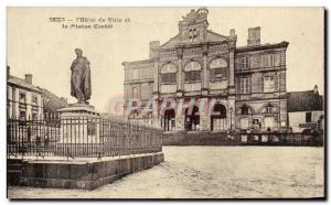 Postcard Old City Hotel I and Conte Statue